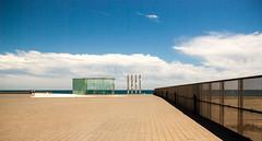 Esplanade (Frederique Triffaux) Tags: barcelona sky españa architecture clouds nuages pentaxk10d pentaxart