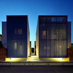 群としての狭小住宅の写真