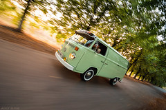 VW T2 (rigshot) (Andrey Baydak) Tags: autumn sunset green classic vw speed volkswagen countryside alley dusk perspective wideangle automotive retro oldtimer van 1970s minivan 1973 transporter whitewall t2 panelvan aircooled осень type2 зеленый typ2 скорость rigshot tokina1116 вен ригшот вэн