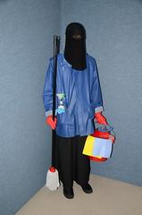 Slave maid (Warm Clothes Fetish) Tags: winter warm coat apron sweat niqab maid slave burka chador hjiab