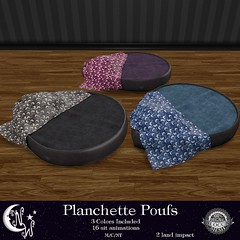 *NW* Planchette Poufs (NeverWish) Tags: halloween chair nw furniture free spooky gift pouf planchette neverwish