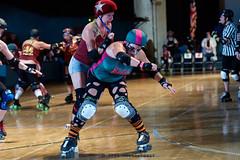 rebels_vs_panic_L3506458 1 (nocklebeast) Tags: ca usa santacruz rollerderby rollergirls zombies vampires skates organicpanic santacruzderbygirls redwoodrebels