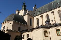 Latin szkesegyhz - Eredetileg a 14. szzadban III. Kzmr lengyel kirly ltal pttetett gtikus rmai katolikus templom, a 18. szzadban barokk stlusban talaktottk s megplt a harangtorony. A templom a szovjet idk alatt is mkdtt. (sandorson) Tags: travel lviv ukraine galicia lvov  lww lemberg galcia leopolis ukrajna    sandorson ilyv katedraaciska halics