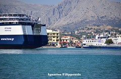 Ariadne in Chios (Ιgnatios Filippousis) Tags: blue sea black car ferry night port lights boat dock passenger ferries ariadne chios oinousses
