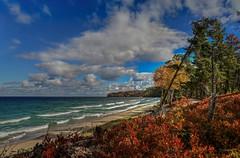 Autumn on the shores of Lake Superior (Cole Chase Photography) Tags: autumn fall beach canon michigan 5d upperpeninsula lakesuperior markiii picturedrocksnationallakeshore minersbeach