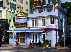 photo - Stanley Market Area, Hong Kong (Jassy-50) Tags: china blue architecture hongkong restaurant photo artdeco deco stanleymarket streamlinemoderne colorfularchitecture
