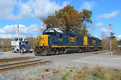 CSX 6412 and 2330 (Trains & Trails) Tags: road railroad autumn fall train crossing diesel pennsylvania tracks engine transportation locomotive slug signal csx somersetcounty 2330 gp402 6412 darkfuture yn3 d70315 rockwoodswitcher