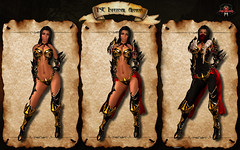 Infernal Armor Female Gold Red vendor2 (Topa Adamski) Tags: world life red game set wings medieval fantasy virtual armor second knight warrior mage infernal roleplay zbrush platemail