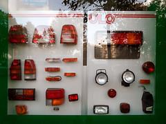 Fahrzeugbeleuchtung (onnola) Tags: auto light red berlin rot window car shop kreuzberg germany deutschland parts schaufenster gwb ulo lampen blinker ersatzteile leuchten kfz guesswhereberlin guessedberlin blinkleuchte gwbschlafauto manfredmansch