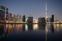 Dubai Downtown (Sreejesh Kalari Valappil) Tags: burjkhalifa downtown dubai uae bluehour дубай megastructures indubai mydubai myuae inuae ishootraw iamnikon longexposure night lights 迪拜 دبي