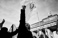 . (Thorsten Strasas) Tags: berlin de dead deutschland sadness iran iraq attack brandenburggate anger brandenburgertor wut mitte grief regime victims irak trauer schwarzweis campliberty platzdes18maerz nationalcouncilofresistance nwri ncriran nationalerwiderstandsrat mullahregime