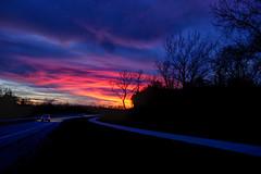 Night Ride (Kansas Poetry (Patrick)) Tags: road sky night kansas nightfall patrickemerson patricklovesnancy