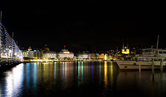 Christmas time in Lucerne (christophjkonrad) Tags: luzern schweiz advent lucerne switzerland leica lake long exposure christmas