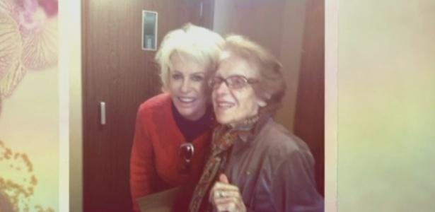 """Ana Maria Braga lamenta morte de ex-sogra e diz que ela foi """"lição de vida"""""""