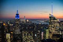 New York at night (fernando garca redondo) Tags: city sunset usa ny newyork manhattan newyorkskyline empirestatebuilding nuevayork nycity newyorkatnight