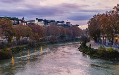River view (balintmolnar1) Tags: rome beautiful streetphotograhpy lumixgh4 gh4 canon colosseum pinokio fountain river fruits guard sunset stairs bnwphotography motor vespa reflection