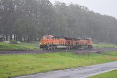 BNSF 3872 working through the rain (NikonRailfan24) Tags: gevo bnsf pinole giant stockton subdivision rain