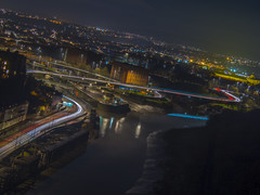 Beyond the lights (Wizard CG) Tags: bristol from clifton suspension bridge england uk nightscape landscape night lights road river long exposure epl7 architecture ed ngc world trekker micro four thirds 43 m43 olympus mzuiko digital tourist attraction outdoor serene