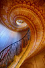Spiral Staircase at the Abbey in Melk, Austria (` Toshio ') Tags: toshio melk austria melkabbey abbey staircase stairs spiral europe european europeanunion architecture interior fuji xe2