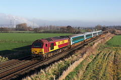 67008 Godscroft lane 20th January 2017 (John Eyres) Tags: 67008 passing godscroft lane 1d34 0950 manchester piccadilly holyhead arriva loco hauled