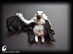 Bat gray Soft Sculpture, Handmade OOAK toy, stuffed bat, Art Doll, Animal sculpture, Textile Taxidermy (Professional Art Doll Maker) Tags: batsculpture battoys batarttoy bat stuffedbat handmadebat halloweenbat stuffedanimals softsculpture arttoy artdolls animal animalssculpture animalsculpture animals anthrogon worldofdollsanthrogon zlatasfantasydolls