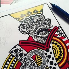 Better royalty (Don Moyer) Tags: kickstarter playingcard king drawing moyer donmoyer brushpen creature royalty
