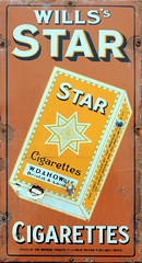 wills star (zaphad1) Tags: old metal advert advertising sign poster free texture no copyright public domain wills star cigarette 3d