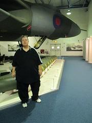 Me & Avro Vulcan B2 XL318 at RAF Museum, Hendon 01.11.16 (Trevor Bruford) Tags: raf museum hendon london aircraft plane airplane military aviation warbird bomber jet hall cold war nuclear avro vulcan b2 xl318 v tin triangle delta lady royal air force