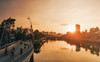 Flame of sun. (Lazy Lounger) Tags: sunrise dawn landscape cityscape urban urbanscape saigon vietnam skyline sun