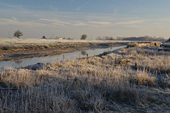 A freezing cold morning at Faversham Creek (favmark1) Tags: faversham favershamcreek dawn winter 2017 365 day21 365challenge frost ice
