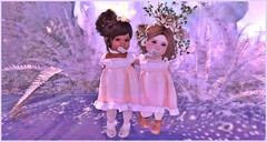 Cousins♡ (Candy Rinq [mabelcnls Resident]) Tags: cousins beautiful whole wheat dresses vintage whimsical juniper clove gift free second life toddler fashion