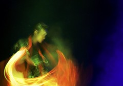 Southwest University of the Nationalities (Robert Borden) Tags: blur action dance performance colors bright movement asia china sichuanprovince chengdu southwestuniversity nationalities stage lights man