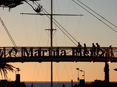 Marina Pier to the Right (mikecogh) Tags: glenelg sunset walkway bridge silhouette letters