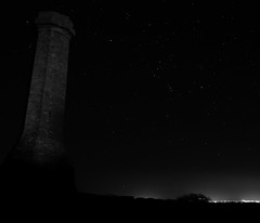 Orion and Hardy (Robin M Morrison) Tags: night hardy monument orion constellation dorset portland