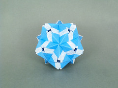 Legousia var. (masha_losk) Tags: kusudama кусудама origamiwork origamiart foliage origami paper paperfolding modularorigami unitorigami модульноеоригами оригами бумага folded symmetry design handmade art