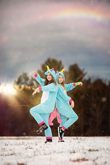 (Shannon Alexander Photography) Tags: fineartphotography fineartphotographer vermontphotographer unicorns bestfriends winter mythical friends canon 135mmf2l rainbow glitter