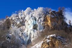 Замръзналият 70 метров водопад Полска Скакавица (sevdelinkata) Tags: ice waterfal bulgaria ruby5