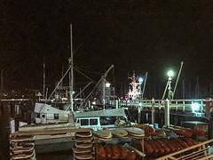2017-0120  Santa Barbara Harbor Night (straehle) Tags: harbor kayak light projecct365012017 project365 santabarbara ship iphone6