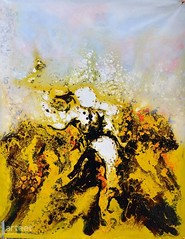 Decadence, Art Painting / Oil Painting For Sale - Arteet™ (arteetgallery) Tags: arteet oil paintings canvas art artwork fine arts gold background texture silk abstract yellow fabric color wave acrylic modern golden illustration bright design flow wallpaper space paper decorative organic grey