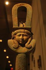 Arc Sistrum with goddess Hathor (Kasimir) Tags: egypt hathor isis sistrum met metropolitanmuseum ptolemaic statue