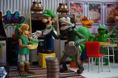 DSC06299 (IGypsyWoman) Tags: retrogaming nintendo mario link muppets rizzo kermit toyphotography