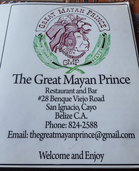 Great Mayan Prince Restaurant, San Ignacio, Belize