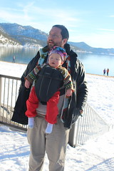 Sand Harbor State Park (quinn.anya) Tags: sandharbor andy paul toddler snow carrier