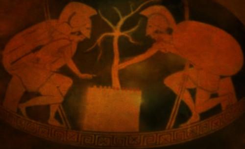 "Petteia - Ludus Latrunculorum  / Iconografía de las civilizaciones helenolatinas • <a style=""font-size:0.8em;"" href=""http://www.flickr.com/photos/30735181@N00/32522201525/"" target=""_blank"">View on Flickr</a>"