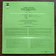 "Backside Telemann - 2 Motets: ""Wie ist dein Name""& Deus Judicium"" - Edith Selig Soprano, Jeannine Collard Alt, Peter Witsch Tenor, Barry McDaniel & Jakob Stampfli Bass, Gunter Karau Orgue Organ Orgel & Clavecin Cembalo Harpsichord, Solistes & Chorale Phil (Piano Piano!) Tags: lp langspeelplaat vynil vinyl 12inch art cover sleeve hoes hulle schallplatte album record telemann2motetswieistdeinnamedeusjudiciumedithseligsoprano jeanninecollardalt peterwitschtenor barrymcdanieljakobstampflibass gunterkarauorgueorganorgelclavecincembaloharpsichord solisteschoralephilippecaillard orchdechambreradiodiffusionsarroise karlristenpart eratoera9507 vol7erato25eanniversaire reeditions tiragelimite limitededition 196419651978"