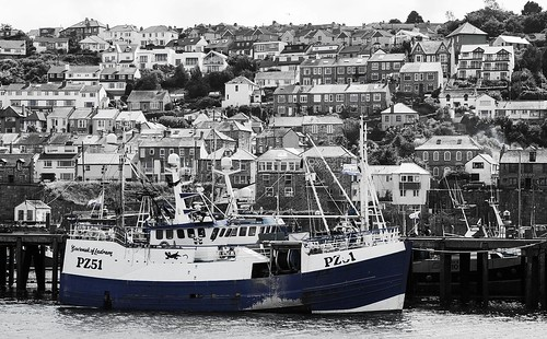 Govenek of Ladram, trawler PZ 51, Newlyn harbour, Cornwall