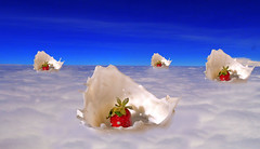 Strawberry clouds!! (kingshuk mukherjee) Tags: abstract postediting edited composite compositeimage sky strawberries fruits clouds