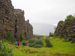 Pingvellir National Park, here you have The crack that divides The north Atlantic plate and The Eurasia plate from each other!