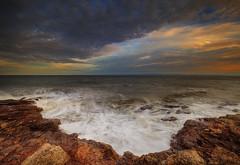 """"""" SEEING RED """" (Wiffsmiff23) Tags: ocean red mars beautiful sunrise rocks dramatic serene drama epic rugged ogmore ogwr traeth ogmorebysea redplanet bwlchgwyn heritagecoastlinesouthwales"""
