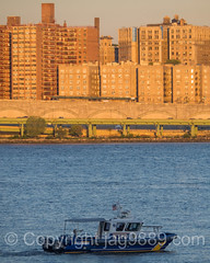 NYPD Police Patrol Boat on the Hudson River, New York City (jag9889) Tags: nyc newyorkcity sunset usa house ny newyork building architecture river boat unitedstates outdoor manhattan unitedstatesofamerica nypd vessel hudsonriver launch lawenforcement finest waterway washingtonheights wahi 2015 firstresponder policedepartment marineunit patrolboat newyorkcitypolicedepartment jag9889 20150915